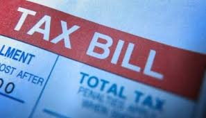 Tax Bill Notice of past due